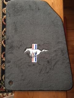 Floor Mats with Tri Bar Pony Logo