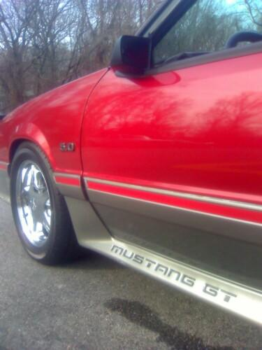 Mustang GT Body Molding Stripe Decal Red (87-93) N001-S53