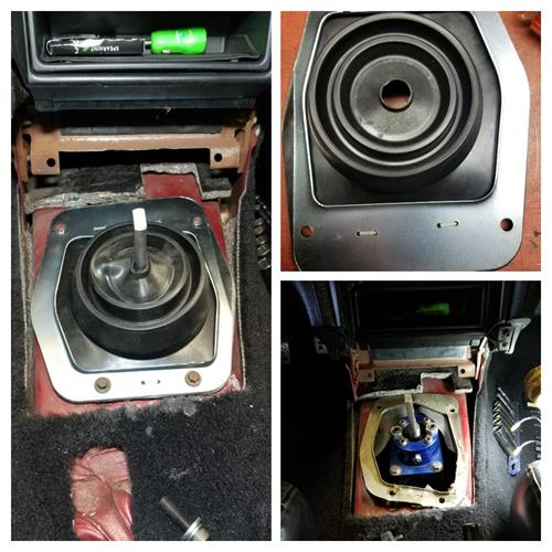 Lower Shift Boot with Metal Ring