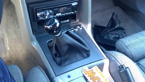 Simulated Leather Shifter Boot & Bezel Kit