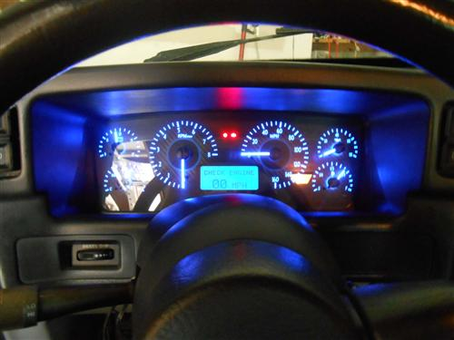 mustang digital instrument cluster carbon face blue. Black Bedroom Furniture Sets. Home Design Ideas
