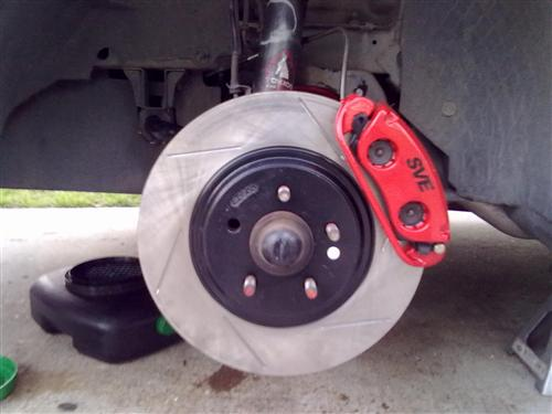 "13"" Cobra Style Front Brake Kit w/ Slotted Rotors"